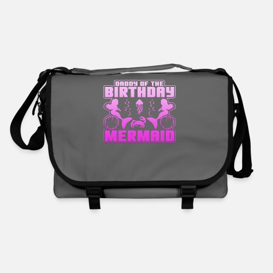 Saturn Bags & Backpacks - Mermaid and Birthday Gift Shirt, dad - Shoulder Bag graphite/black