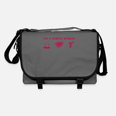 cycle de motocross coeur de vin amour femme simple ehef - Sac bandoulière