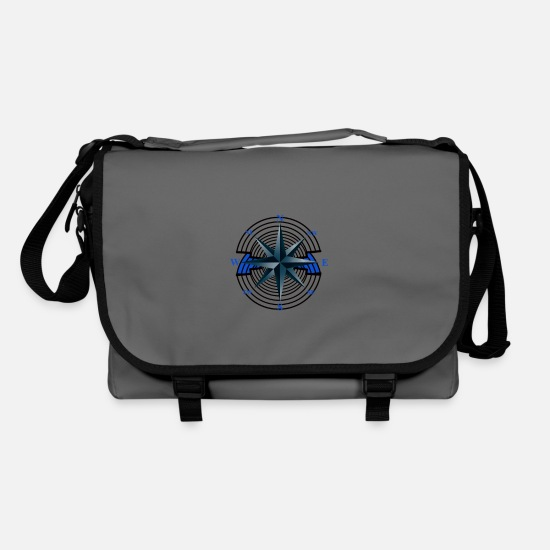 Journey Bags & Backpacks - Windrose Compass Nautical Maritime Nautical Ahoi - Shoulder Bag graphite/black