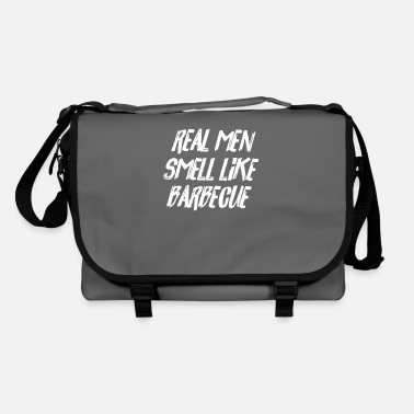 Smoker BBQ Lover Real Men Smell Like Barbecue Funny Gift - Shoulder Bag