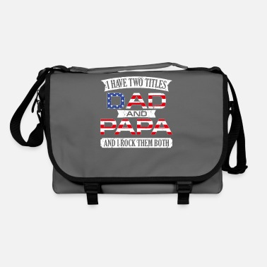 Funny I Have Two Titles Dad And Papa Funny Fathers Day G - Shoulder Bag