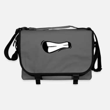 Devour Face laugh teeth grimace grimace - Shoulder Bag