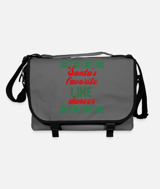 Western Bags & Backpacks - Ugly Line Dancer Line Dance Gift Christmas - Shoulder Bag graphite/black