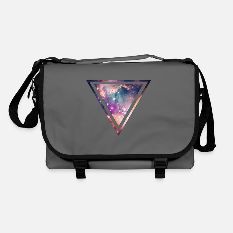 Space Bags & Backpacks - Galaxy - Space - Universe / Hipster Triangle - Shoulder Bag graphite/black