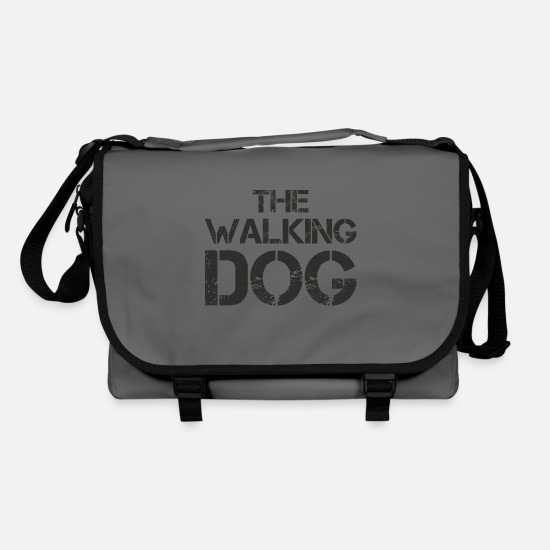 Gift Idea Bags & Backpacks - Walking Dog Dog Quote Shirt Gift - Shoulder Bag graphite/black