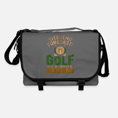 Golfing Golf Weekend Forecast Golf with Chance of - Shoulder Bag