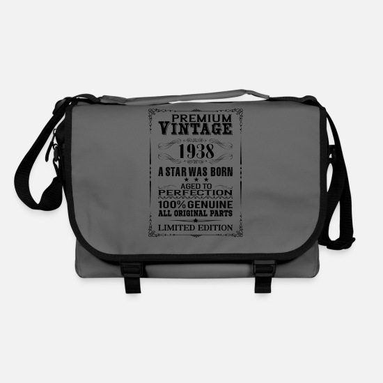 Birthday Bags & Backpacks - PREMIUM VINTAGE 1938 - Shoulder Bag graphite/black