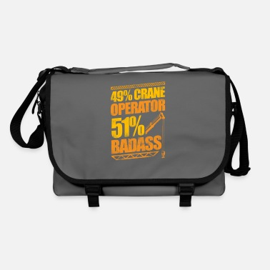 Heavy Badass Crane Operator Construction - Shoulder Bag