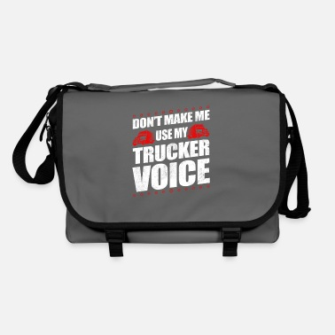 Old School Funny Use My Trucker Voice Truck Driver Gift Idea - Shoulder Bag