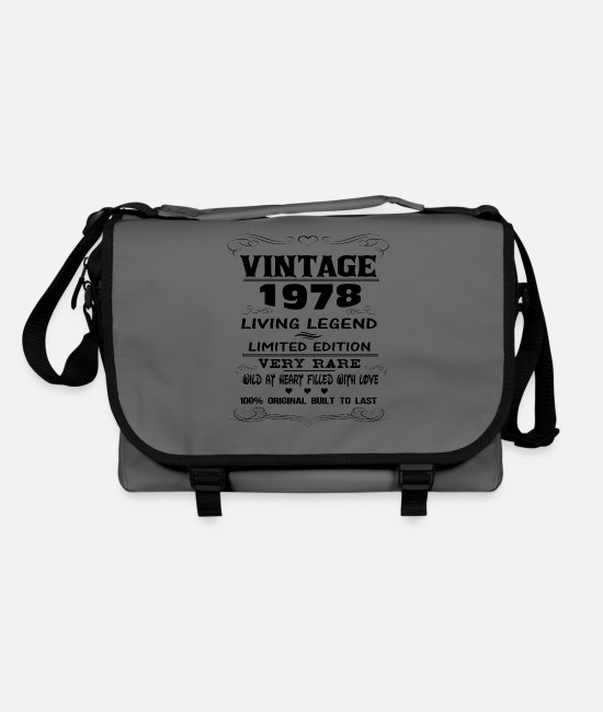 Since 1978 Bags & Backpacks - VINTAGE 1978 - Shoulder Bag graphite/black