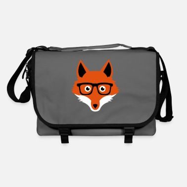 Sweet Funny hipster fox with nerd glasses - Sac à bandoulière
