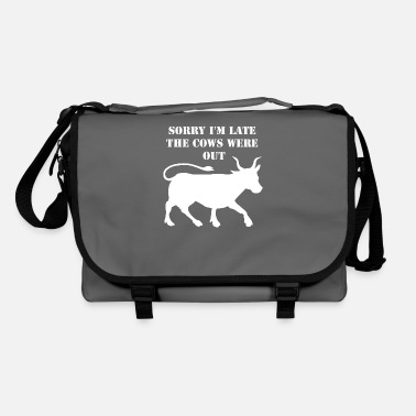 Sorry I'm late my cow - Shoulder Bag