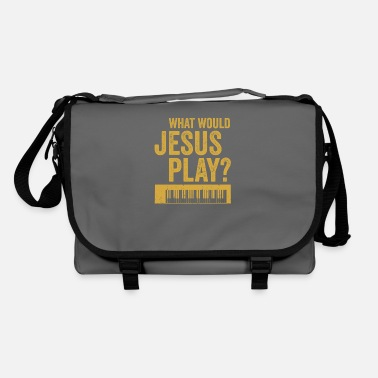 Raver What would jesus play Synthesizer Musiker Geschenk - Umhängetasche