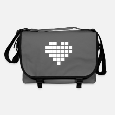 Pixel-heart Pixel Love / pixel heart - Shoulder Bag