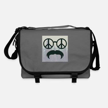 Glass Underwear great hipster beard beard glasses love peace hippie - Shoulder Bag