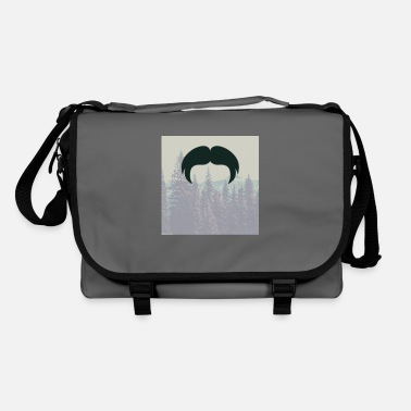 Fathers Day Underwear Hipster beard beard in the forest mustache - Shoulder Bag