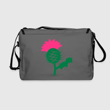 Scottish single head flower of Scottish Thistle Scotland - Shoulder Bag