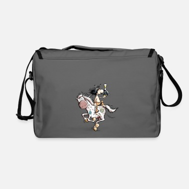 Indian American Indian with wild horse - Shoulder Bag