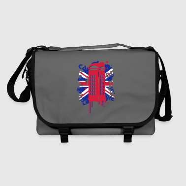 red telephone box with a British flag - Shoulder Bag