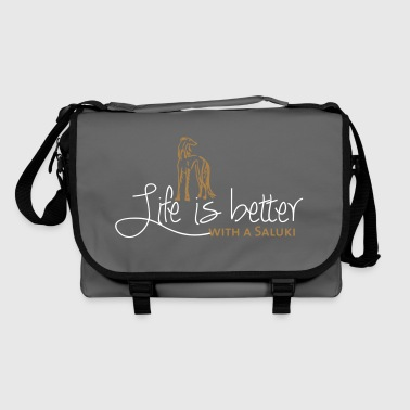 Life is better - Saluki - Shoulder Bag