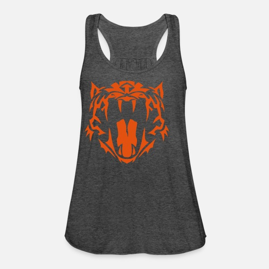 Tatoo Tank Tops - tribal tiger tatoo 402 - Frauen Flowy Tanktop Dunkelgrau meliert