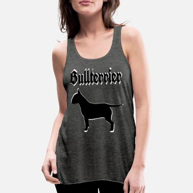 Bulldog Terrier Bull Terrier, Terrier, Bulldog, Bulldog, dog's head, - Women's Flowy Tank Top