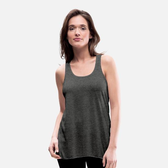Gift Idea Tank Tops - Trippy geometry - Women's Flowy Tank Top dark grey heather