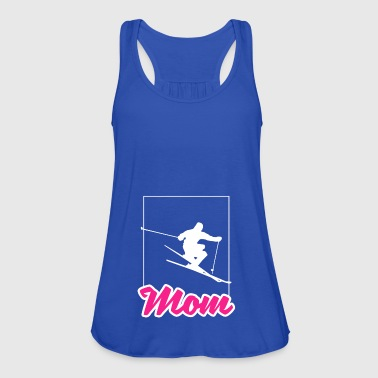 Sports sporty Christmas gift Ski Mom waved - Women's Tank Top by Bella