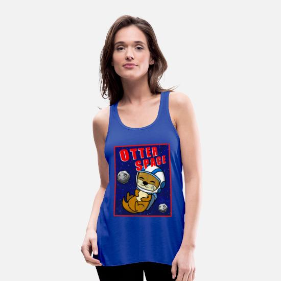 Gift Idea Tank Tops - Otter Space Astronaut Planet Gift Space Travel - Women's Flowy Tank Top royal blue