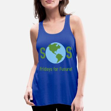 SOS Fridays for Future! - Women's Flowy Tank Top