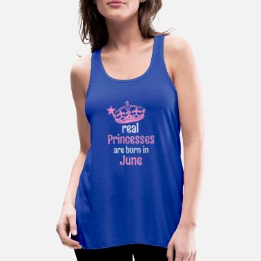 Eanf Real Princesses are born in # EANF # poison - Women's Flowy Tank Top