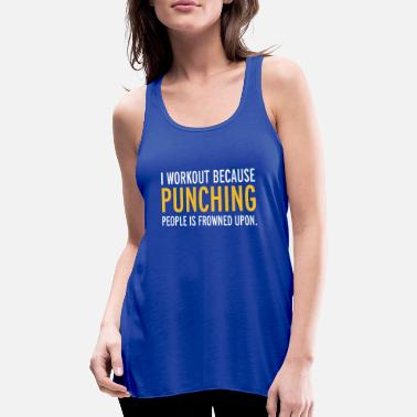 Funny Gym Workout - Women's Flowy Tank Top