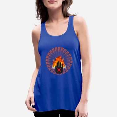 Ban The Bomb NO to the Atomic Bomb - Women's Flowy Tank Top