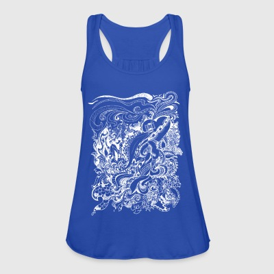 doodle full white - Women's Tank Top by Bella