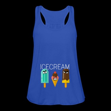 icecream ice lolly comic friends children sweet sun - Women's Tank Top by Bella