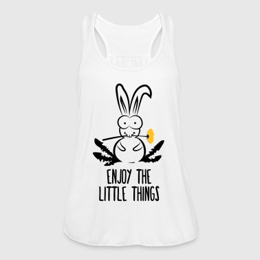 enjoy the little things bunny hare rabbit dandelio - Women's Tank Top by Bella