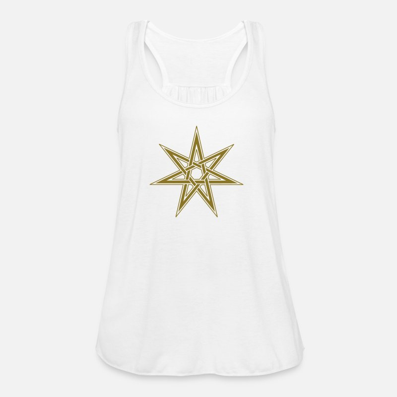 Elf Tank Tops - Fairy Star, Magical Power Pagan, Wicca, Witchcraft - Women's Flowy Tank Top white