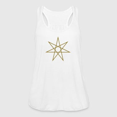 Elven Star, Heptagram, Fairy Star, Pagan, Wicca - Tank top damski Bella