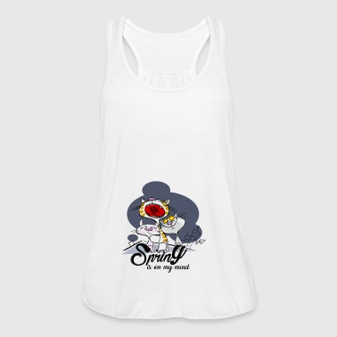 Yelling cat: Spring in the head - Women's Tank Top by Bella