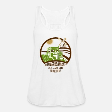 Peasant farmer Tractor tractor Agricultural machinery - Women's Tank Top by Bella