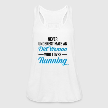 Never Underestimate An Old Woman Who Loves Running - Tanktopp dam från Bella