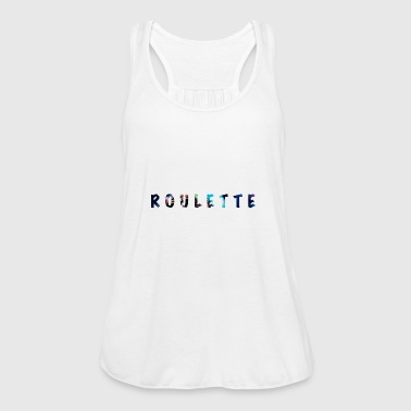Roulette lettering with very cool details - Women's Tank Top by Bella