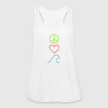 Peace,Love,Surf_Symbole - Frauen Tank Top von Bella