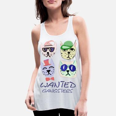 Gangster cats - Women's Flowy Tank Top