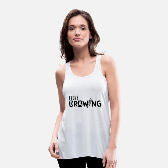 Painter Tank Tops - Drawing drawing drawing drawing - Women's Flowy Tank Top white