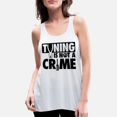 Tuning Tuning is not a crime - Canotta con taglio morbido donna