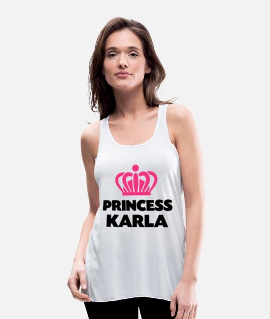 Crown Tank Tops - Princess karla name thing crown - Women's Flowy Tank Top white
