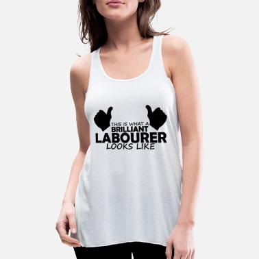 Labour brilliant labourer - Women's Flowy Tank Top