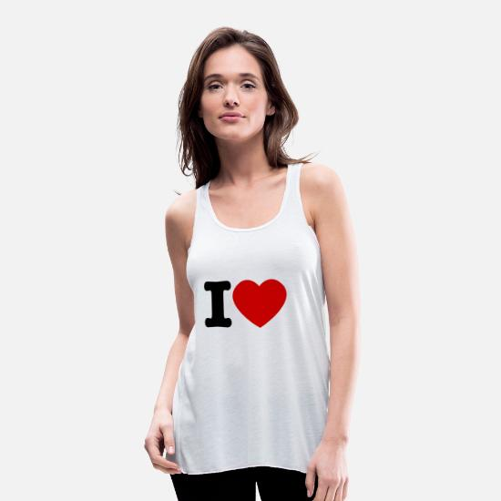 Love Tank Tops - I love I love love - Women's Flowy Tank Top white