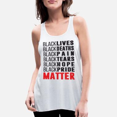 Bläck Black Lives Black Deaths Black Pain Black Tears - Tanktopp med racerback dam